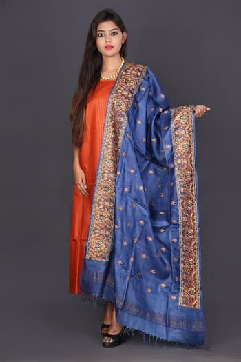Embroidered Silk Suit Set - Vayan Clothing